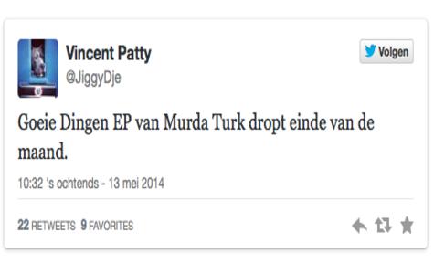 Goeie Dingen EP van Murda Turk dropt einde van de maand